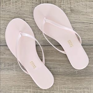 """TKEES Glosses """"Whipped Cream"""" Flip Flop Sandals"""